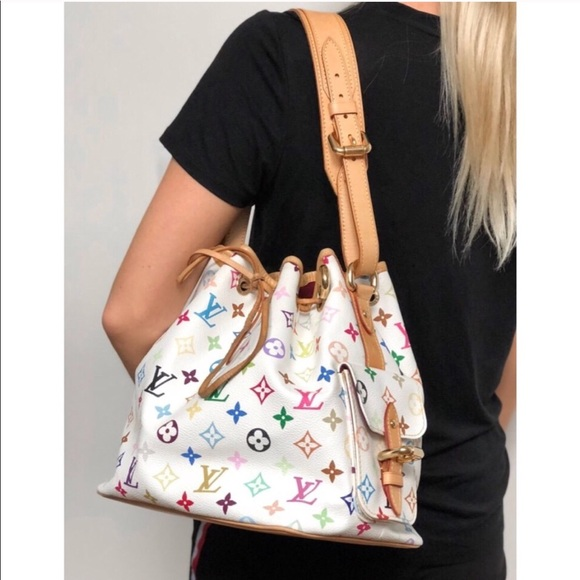 Louis Vuitton Handbags - Louis Vuitton Petit Noe Coated Canvas Multicolored